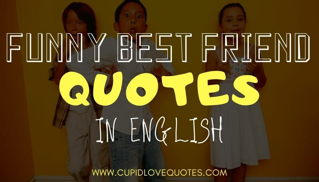 Funny Best Friend Quotes in English